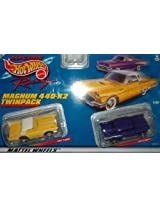 Hot Wheels 36937 1957 T-Bird and 1957 Chevy Magnum 440-X2 HO Slot Car Twin Pack