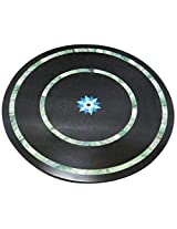 Designed By Heart Stone Table Top (Black, 18 inches x 18 inches)