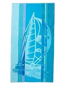 "Arkhipelagos Sailboat Beach Towel, Blue, 39"" x 73"""