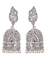 MUCHMORE Partywear Collection Zircon Made Jhumki Earring Set For Girls & Women