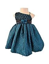 Faye Teal Brocade Ceremonial Dress 9-12m