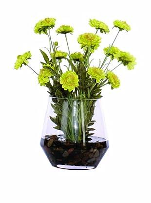 Lux-Art Silks Green Daisy Waterlike (Green)
