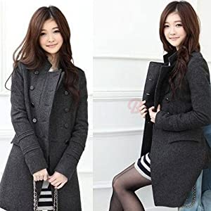 Gray Woolen Long Coat