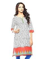 Purab Paschim women's Casual Printed RED Kurti