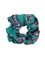 Sarah Floral Design Rubber Band for Women - Green