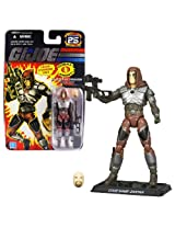 """Hasbro Year 2007 G.I. Joe """"25th Anniversary"""" Series 4 Inch Tall Action Figure Master Of Disguise Zartan With Sniper Rifle, Alternative Face, Dagger, Backpack And Display Base"""