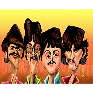 Kaleidostrokes Caricature - The Beatles