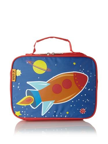 D&N Kids Rocket Lunch Bag, Blue