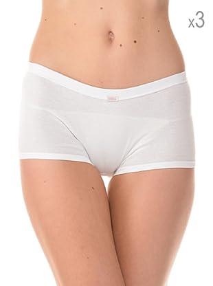 Anyma by Cotonella Pack 3 Pantys Cintura Elástica (Blanco)