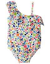 Osh Kosh Baby Girls' Multi Color Heart 1 Piece