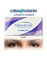 Ciba Vision Freshlook ColorBlends Brown Color Contact Lenses By Visions India 2 Lens Pack 0.00