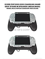 iCore Charging Hand Grip Stand with Speaker for PSP