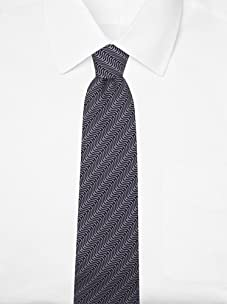 Hermès Men's Curve Tie (Gray/Black)