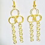 Golden triangle elegant dangling Fashion Earring