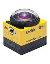 Kodak SP360 16 MP Digital Camera with 1x Optical Image Stabilized Zoom with 1-Inch LCD (Yellow)