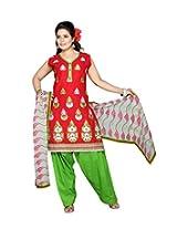 Mint Women's Cotton Salwar (111003531_Red_Large)