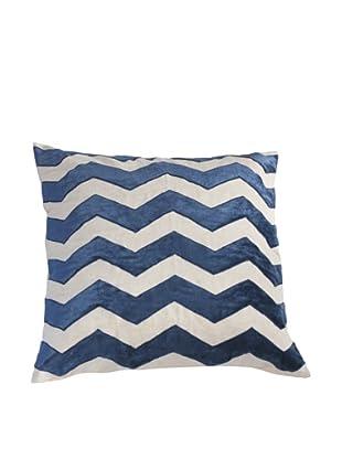 Filling Spaces Hand Appliqué Pillow, Indigo