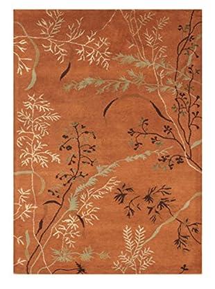 Wildflowers II Rug, Terra Cotta, 5' x 8'