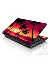LSS 15 15.6 inch Laptop Notebook Skin Sticker Cover Art Decal Fits 13.3 14 15.6 16 HP Dell Lenovo Apple Asus Acer Compaq (Free 2 Wrist Pad Included) Hawaiian Paradise Palm Tree