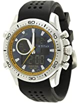 Titan Octane Analog-Digital Blue Dial Men's Watch - 9455SP04