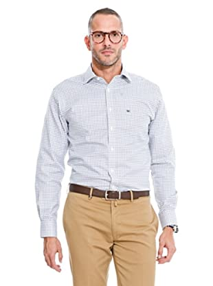 Pedro del Hierro Camisa Non Iron Cuadros (Verde / Blanco)