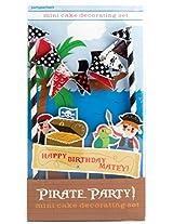 Party Partners Design Mini Cake Decor Kit, Pirate Party
