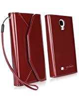 BoxWave Patent Leather Wallet Galaxy S4 Case (Ruby)