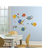 RoomMates Planets and Rockets Wall Decals (Multi Color)