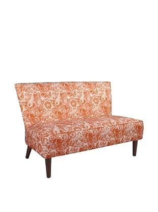 Skyline Furniture Modern Settee, Johnstone/Splendid Coral Rose
