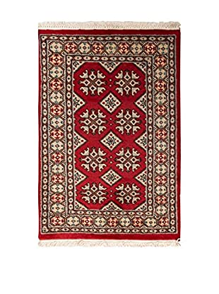 RugSense Alfombra Kashmir Rojo/Multicolor 93 x 64 cm
