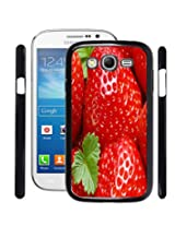 Fuson 2D Printed Strawberry Wallpaper Designer Back Case Cover for Samsung galaxy Grand Neo - D810