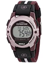 Timex Unisex T49659 Expedition Classic Digital Chrono Alarm Timer Plum Fast Wrap Velcro Strap Watch