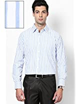 Striped White Formal Shirt Copperline