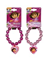 WeGlow International Dora The Explorer Faceted Beaded Bracelet with Charm (Set of 3)