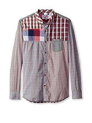 Desigual Men's Mixed Pattern Shirt