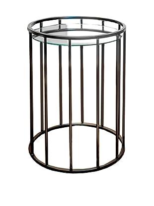 Winward Dayton Iron & Glass Nesting Tables, Brown