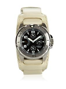 J Springs by Seiko Men's Retrograde White/Black Leather Watch