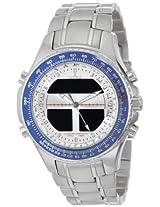 Sartego Mens SPW35 World Timer Quartz Chronograph Watch