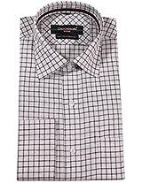 Dennison Men's Regular Fit Cotton Formal Shirt (1041_White_44)