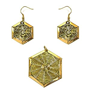 Daamak Jewellery Mesh Work Pendant Set jewellery Set