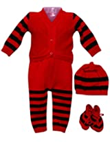 Amity Anchor Kids Warm Wear Set (AA14-15467_3-6 Months_Red)