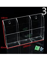 Acrylic TV Air Conditioner Remote Control Holder Case Wall Mount Storage Box(#03)