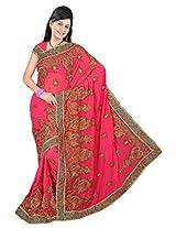 A.V.Fashion Embroidered Saree (1303_Gajari)
