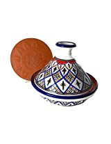 Le Souk Ceramique CT-TK-22 Cookable Tagine, 9-Inch, Tabarka Design