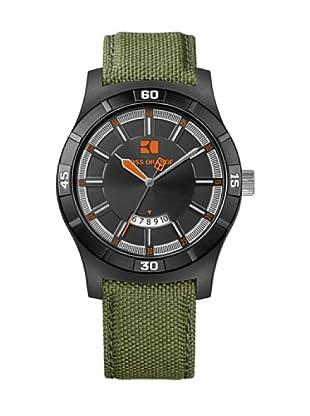 Hugo Boss 1512533 - Reloj de caballero de cuarzo, correa de varios materiales color verde