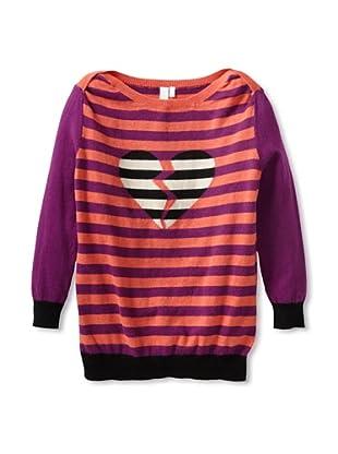 Shae Women's Broken Heart Sweater (Dahlia/Persimmon/Multi)