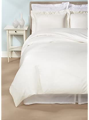 Peacock Alley Ballet Hemstitch Duvet Cover Set (Ivory)