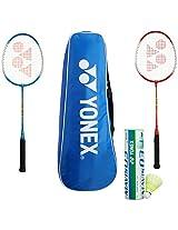 Yonex Badminton Combo with 2 GR 303 Racquets