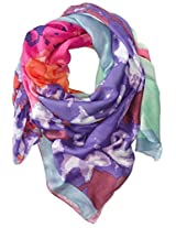 San Diego Hat Company Women's Multi Color Watercolor Floral Print Scarf
