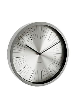 Karlsson Floating Stripes Wall Clock (Grey)